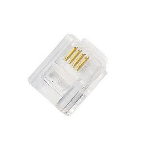 Plug Modular RJ11 6X4