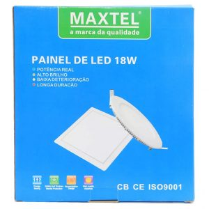 Painel Plafon Luminaria Embutir Quadrado 18w Branco Frio