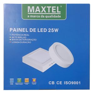 Painel Plafon Luminaria Sobrepor Quadrado 25w Branco Frio