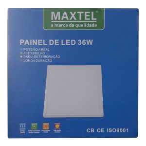 Painel Plafon Luminaria Sobrepor Quadrado 36w Branco Frio