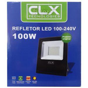 Refletor Holofote Led Slim Clx 100w Branco Frio