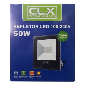 Refletor Holofote Led Slim Clx 50w Branco Frio